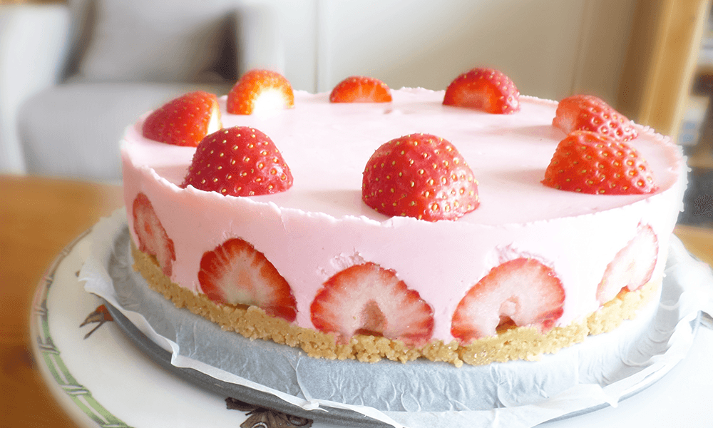 Recept | Verse Glutenvrije Kwarktaart met Aardbeien
