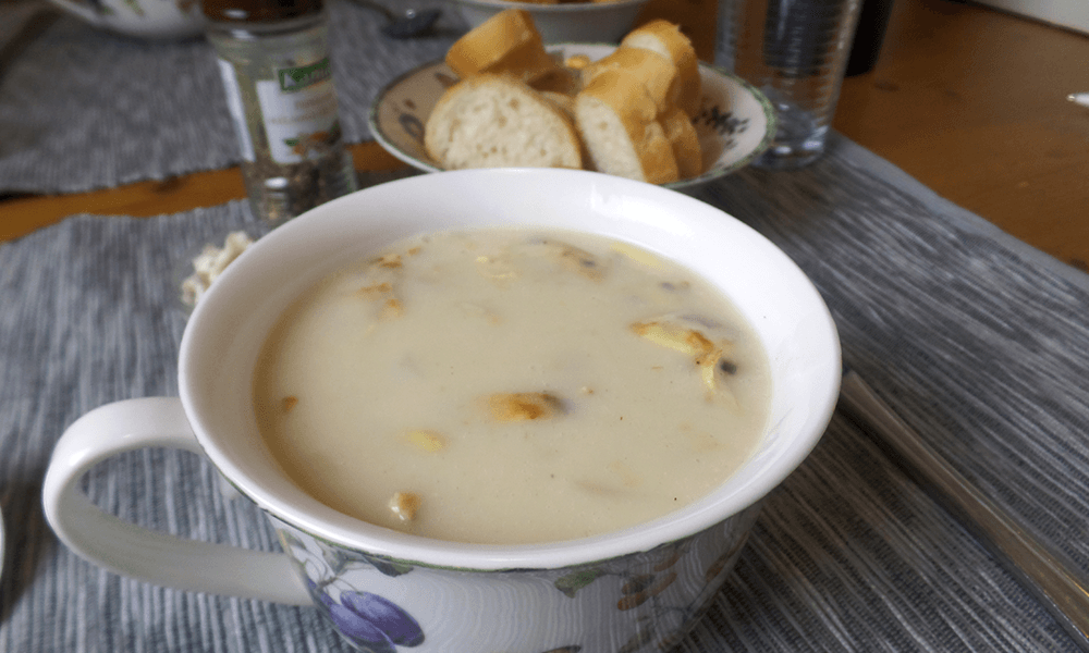 Recept | Glutenvrije Aspergesoep met ham en ei