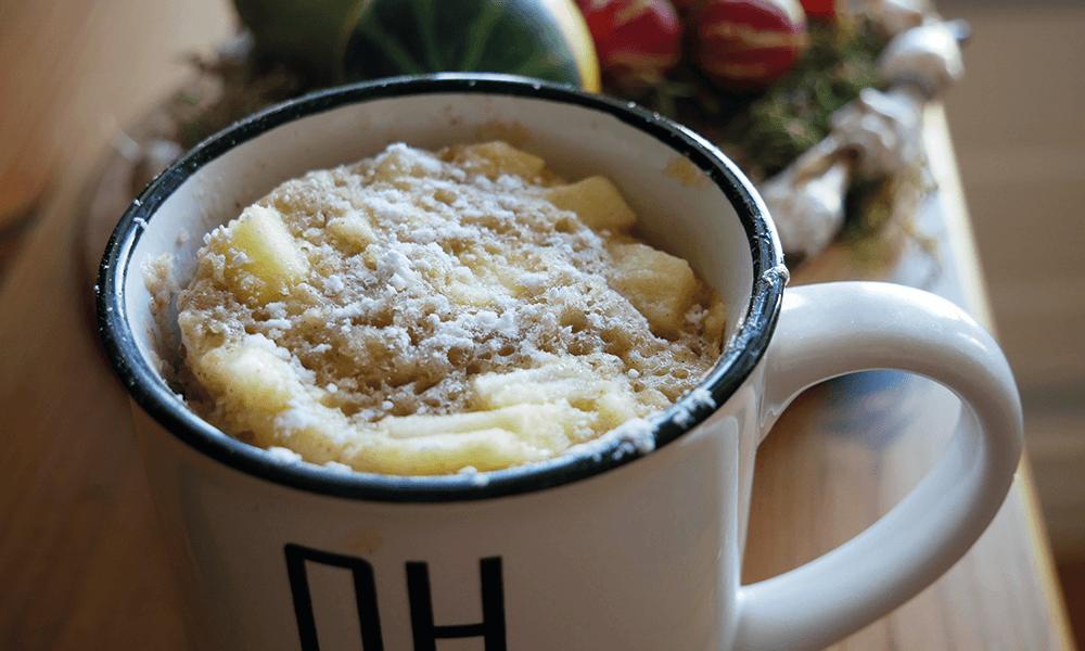 Recept | Glutenvrije mugcake met appel