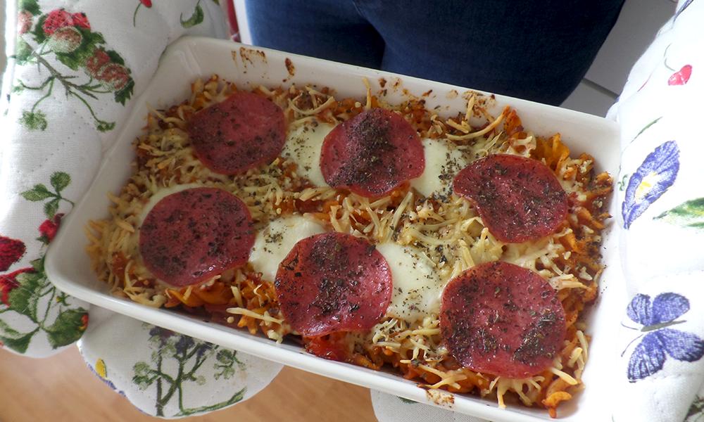 Recept | Glutenvrije pasta ovenschotel met salami