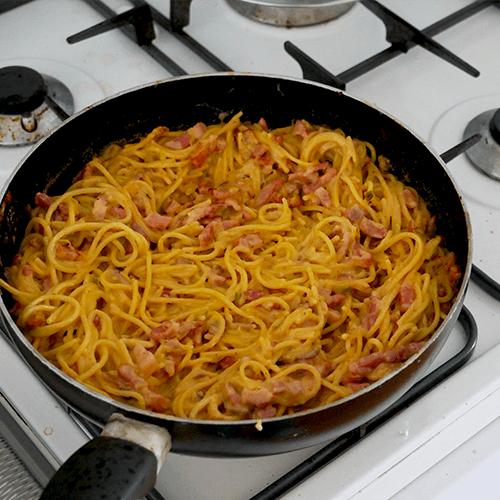 glutenvrije knoflookspaghetti