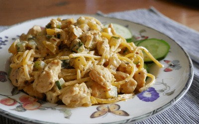 Recept | Glutenvrije spaghetti met kip